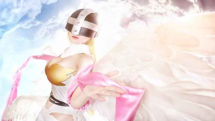 Photo of Cosplay Angewomon Dari Anime Lawas Digimon