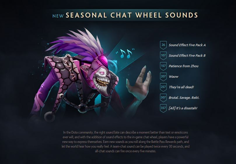 chat wheel sounds